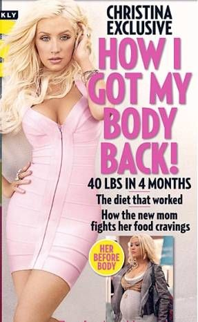 What Christina Aguilera did to lose weight after giving birth to her son