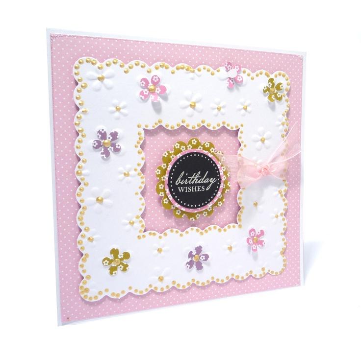 Embossed Frames - Daisy www.craftworkcards.com