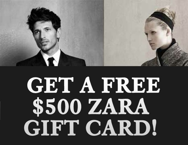 PINTEREST GIVEAWAY! ZARA GIFT CARD!