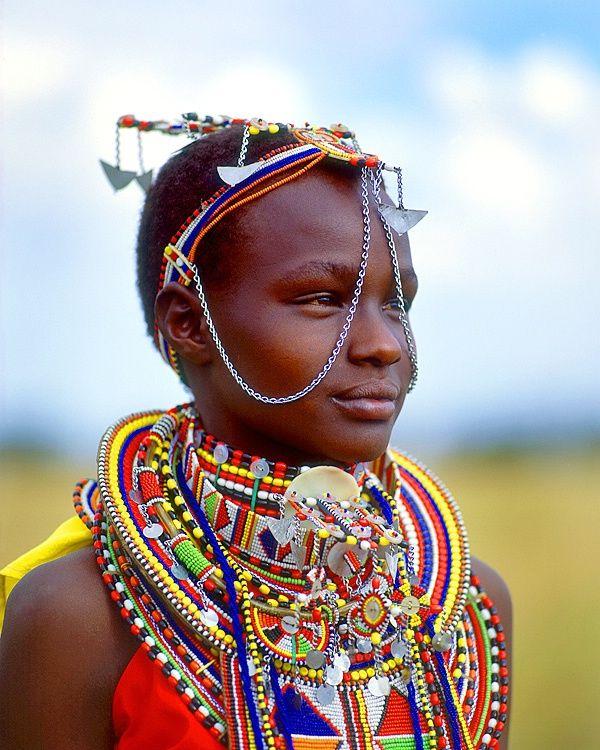 Africa | Maasai girl, Maasai Mara National Park, Kenya. | ©Jim Zuckerman