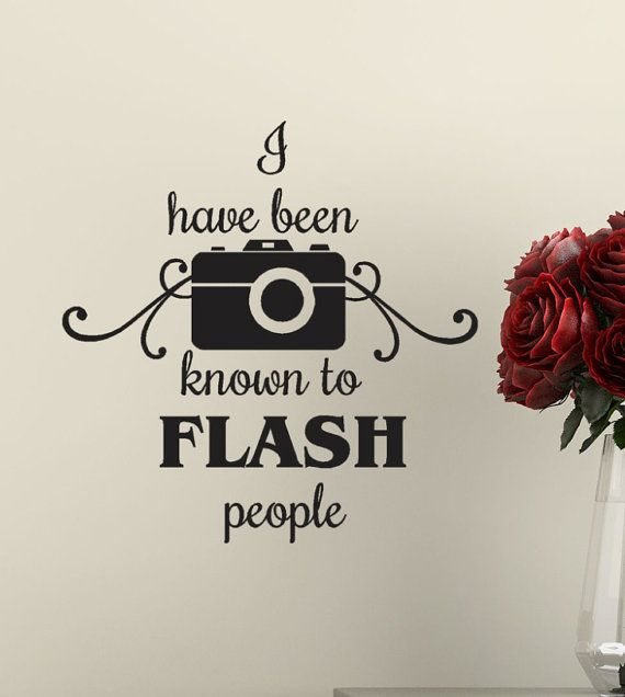 Photographer Decor Vinyl Decal funny Sticker  I by HouseHoldWords, $8.00                                                                                                                                                      More