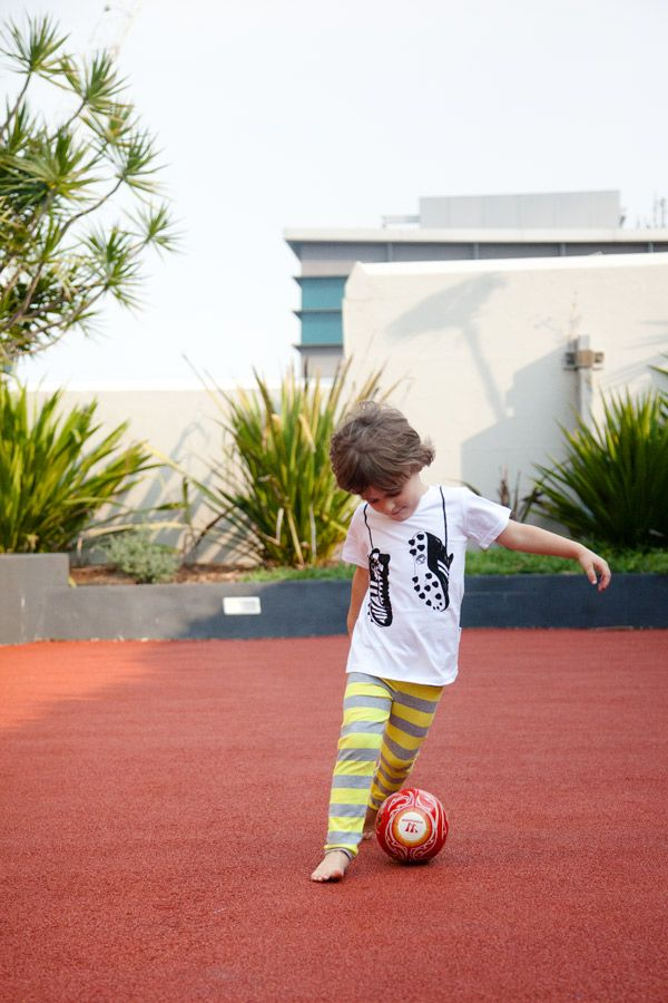 Love this shot of Marshall, the Tiny Times blogger rocking his Young and Moodie footy boots tee. http://tinytimes.com/2013/11/12/training-for-fifa-world-cup-2018/