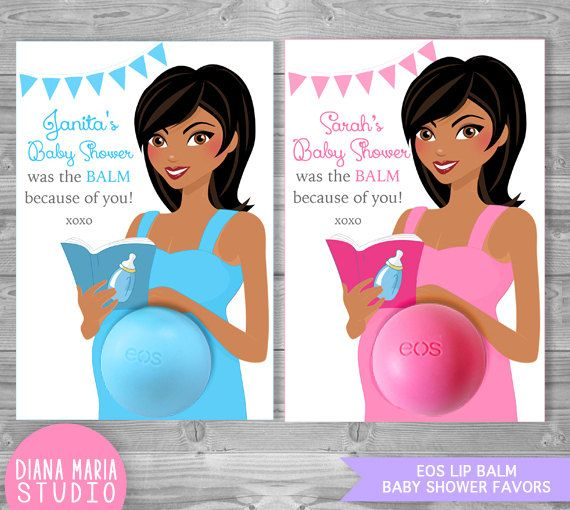 eos lip balm baby shower favors african by dianamariastudio