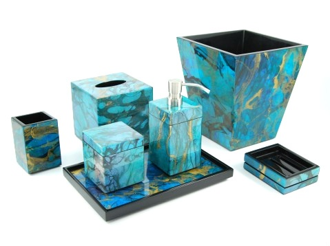 Luxury Bathrooms, Ocean Blue High Gloss Bathroom Set, So Beautiful, One Of  Overu2026