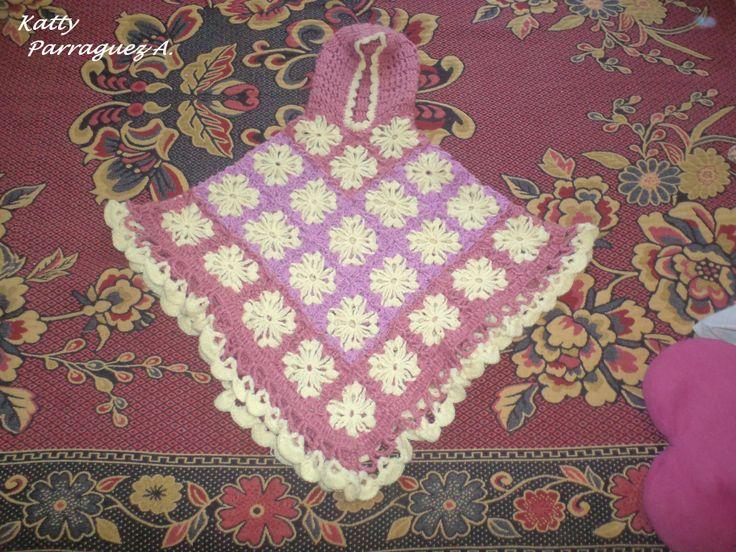 linda manta tejida a crochet