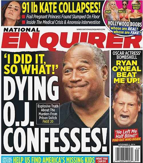 OJ Simpson Deathbed Confession Admitting To Murdering Nicole Brown Simpson (PHOTO)