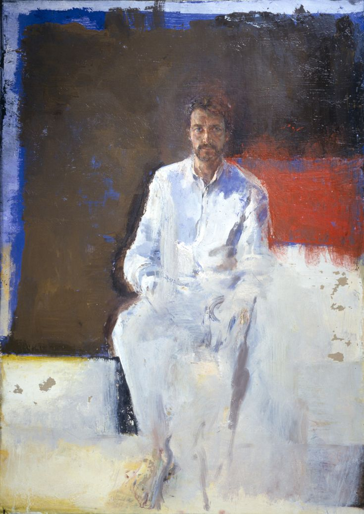 Velasco vitali FIGURA SEDUTA, 2001. Oil on canvas, 203 x 144 cm