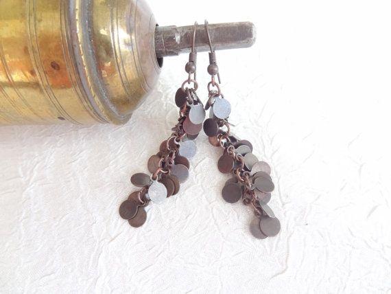 Dangle Earring Copper Earring Teen Girls Earring by sevinchjewelry, $18.00#earrins #christmasgifts #jewelry