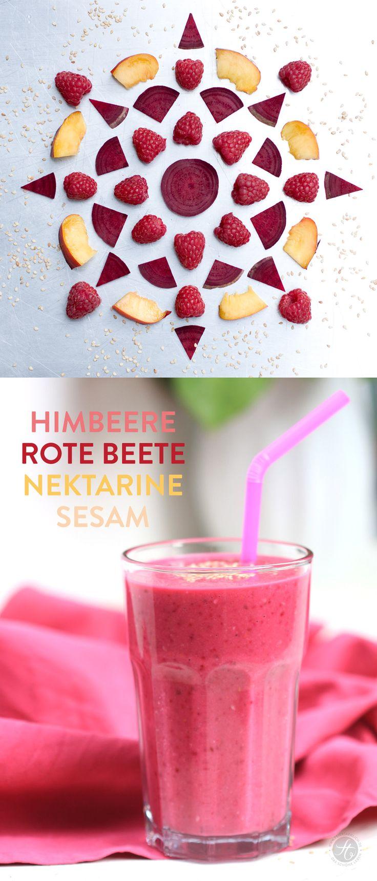 Smoothie-Montag 04: Himbeere-Rote Beete-Nektarine-Sesam Smoothie #smoothiemontag… – feiertäglich
