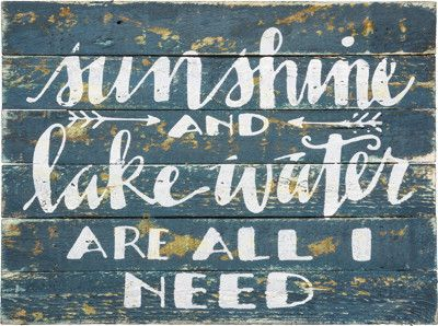 Sunshine and Lake Water Sign - Gin Creek Kitchen                              …
