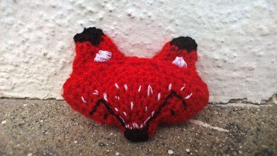 Crochet Fox Brooch for my lovely sister in law <3