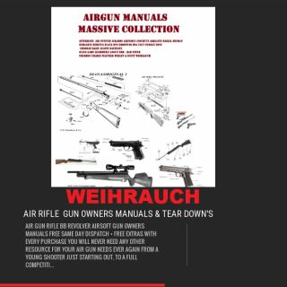 WEIHRAUCH AIR RIFLE GUN OWNERS MANUALS DIGITAL DOWNLOAD 50 % OFF THIS WEEK ONLY NORMALLY £7.99 THE DOWNLOAD INCLUDES THE MANUALS AND EXPLODED DIAGRAMS FOR THE FOLLOWING AIR RIFLES  ​AIR RIFLE GUN OWNERS MANUALS - PARTS LISTS AND EXPLODED DIAGRAMS FOR THE FOLLOWING WEIHRAUCH AIR RIFLE GUNS  HW25L HW30LHW45 HW90 HW70 HW66P HW60J HW66 WSA HW50 HW40 HW37 HW88 HW94 HW25 HW80 + HW80K HW85 HW95 HW97K