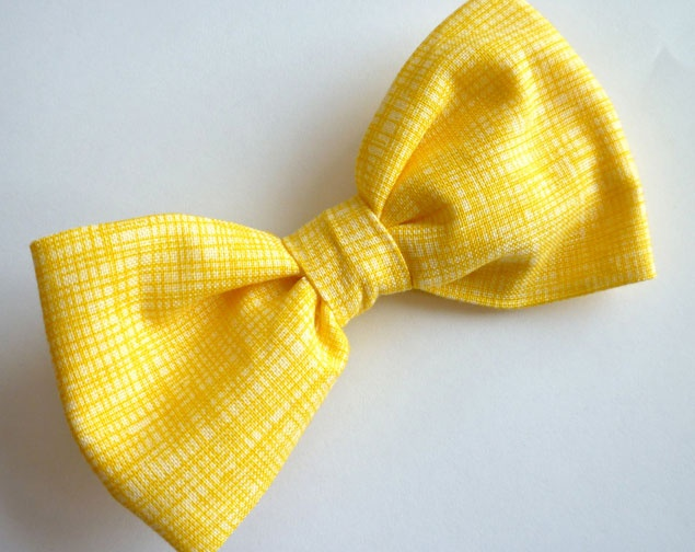 Yellow Bow Tie | PHOTO SOURCE • DIVINE DOMESTICATION on Etsy