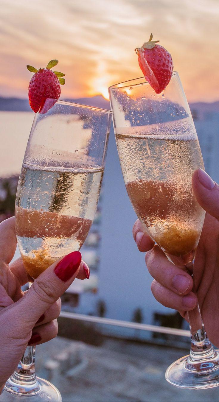 Sunset & champagne at the Iberostar Playa de Palma, Mallorca, Spain