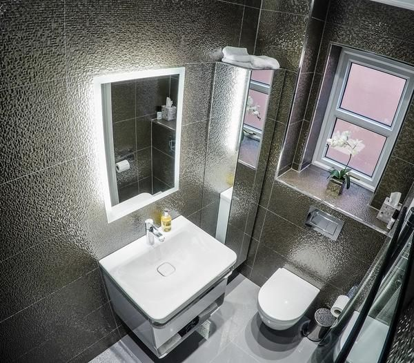 Most ensuite bathrooms aren't big.  In fact the majority of ensuites require some clever planing to maximise the space available.  The example here makes the be