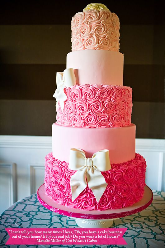I Absolutely Love This Cake... Hands Down My Favorite Birthday Cake. I Really Love The Alternating Rose Tiers and Plain Tiers and The Ombré Pink Coloring!!! Totally Adorable!!!