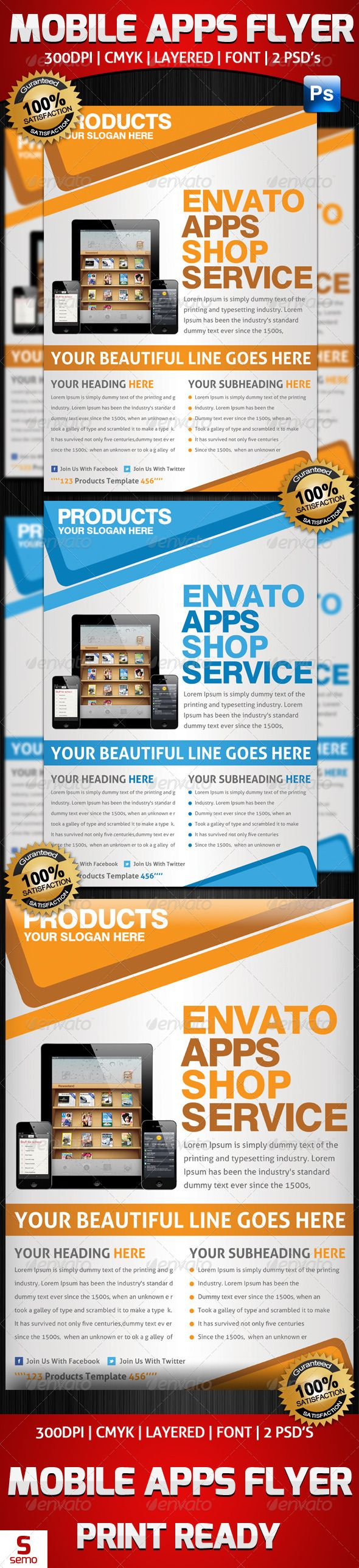 mobile app promotion flyer template  graphicriver mobile app promotion flyer template