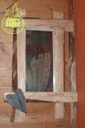 Specchi da parete in legno  ideale per rustico oppure chalet montagna. Specchiere per ambiente tipico montano