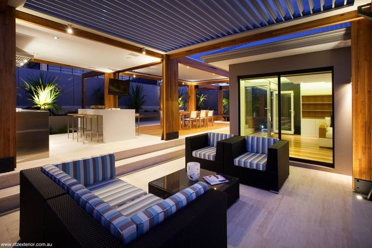 A sensational outcome also using louver and alfresco roof outcomes. This outdoor area has a range of setting and usage.