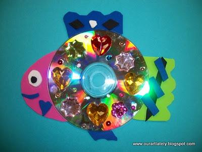 Recycled CD Fish - The Rainbow Fish