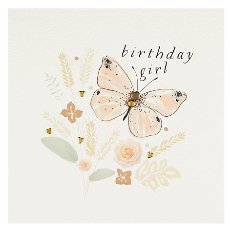 Buy Belly Button Designs Butterfly Birthday Card Online at johnlewis.com