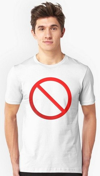 Not Allowed Sign Blank T-Shirts & Hoodies https://www.redbubble.com/people/markuk97/works/28084894-not-allowed-sign-blank?asc=t&p=t-shirt via @redbubble