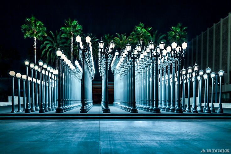 Chris Burden's Urban Light sculpture at LACMA