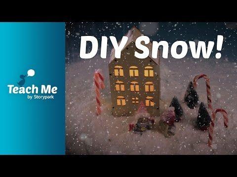 Teach Me: Shaving Foam Snow - YouTube