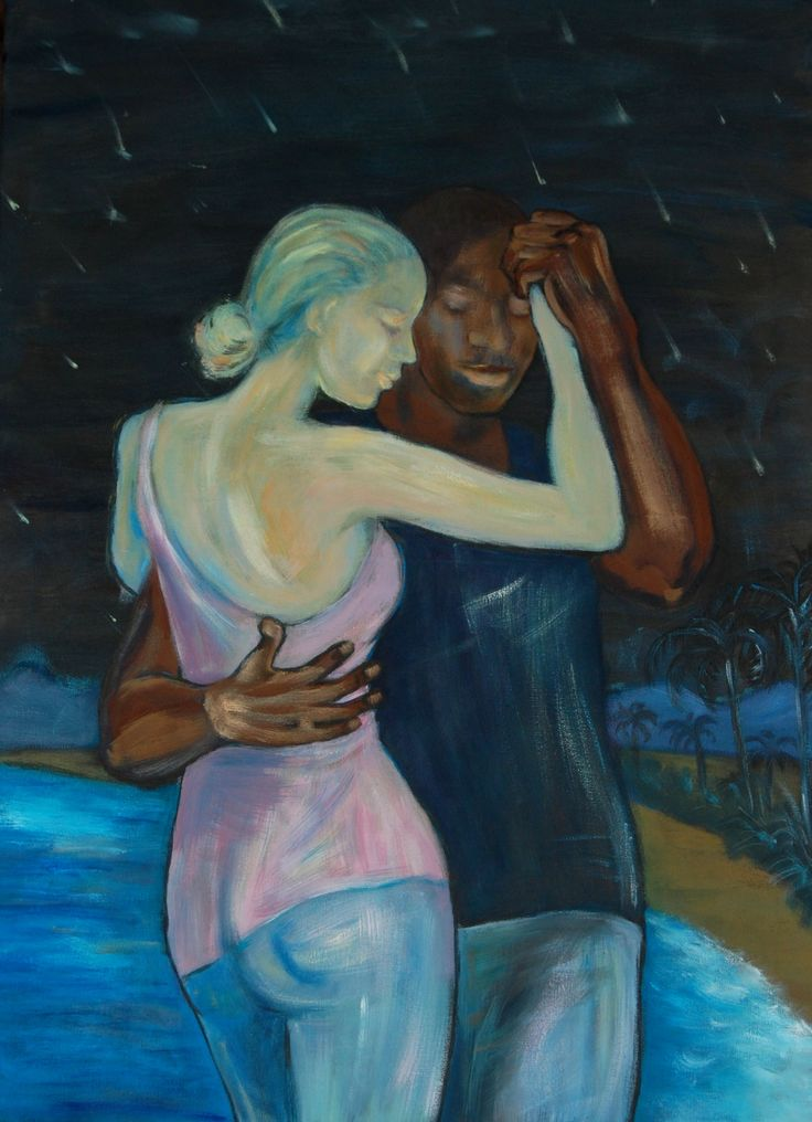 Dancing under starfall, Acrylics, 50 x 70 cm