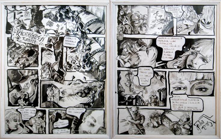 Kierrätetyt tunteet, The Recycled feelings 2005  42 x 32,5 cm  intian tussi / indian ink