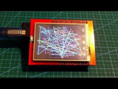 "Simple No library test sketch for Arduino Uno and 2.4"" 320x240 TFT LCD Shield - YouTube"