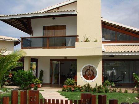 Linda Casa Com 4 Suítes Em Guarajuba - Casa com 300m2 com vista para o lago, em condominio fechado. 300m2(área construida) 600m2 (terreno) 4 Suites com ar condicionado Suite principal com varanda Ampla...
