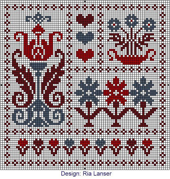 Design: Ria Lanser - Ria has a lot of beautiful designs! I must stitch all of them!