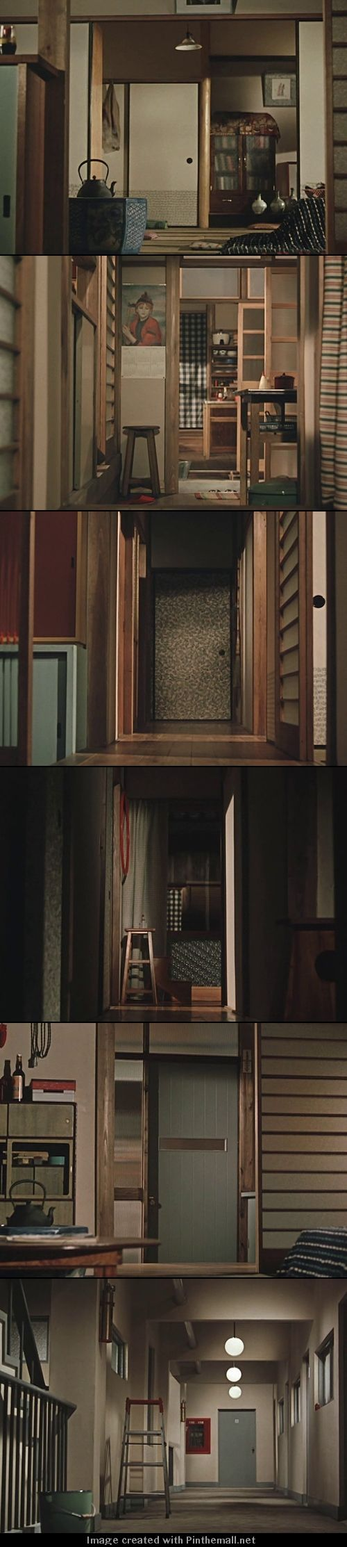 Yasujiro Ozu's interiors and low camera angles as seen in Good Morning (1959)
