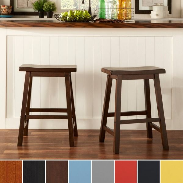 Salvador Saddle Back 24-inch Counter Height Backless Stool (Set of 2) by  iNSPIRE Q Bold by iNSPIRE Q - 33 Best DINING TABLE + CHAIRS Images On Pinterest