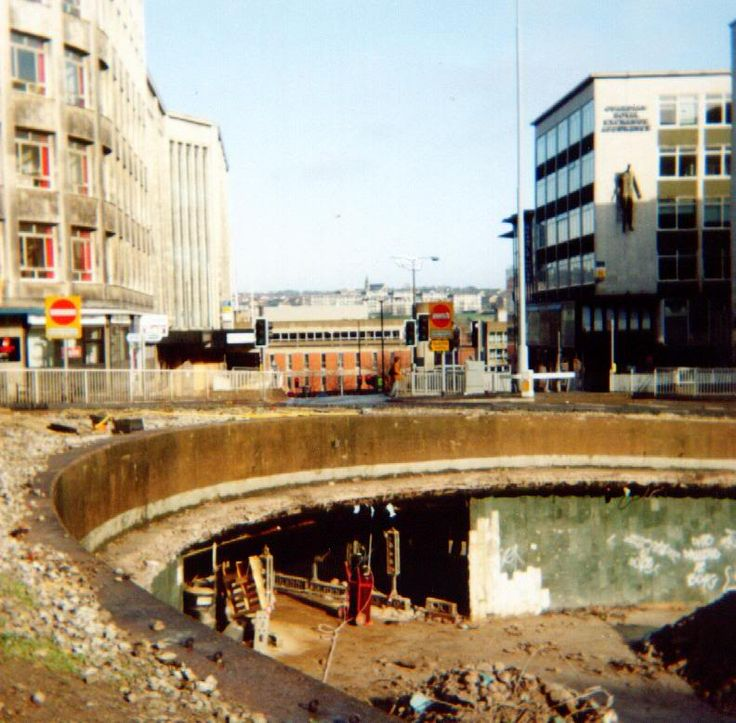 I missed this happening but i remember The Hole very well. Demolition of Hole in the Road #'sheffield
