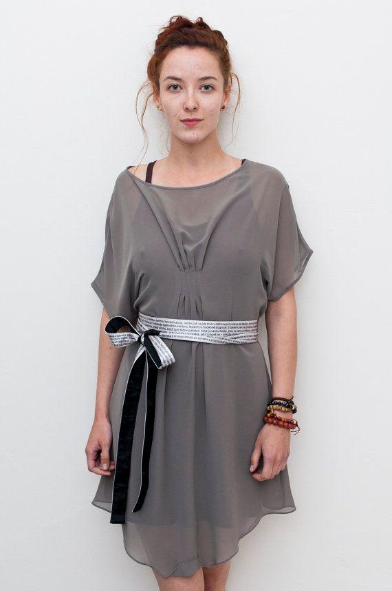Lily Multi Way Dress / Grey Chiffon Drape Dress / Party Dress / Day Dress
