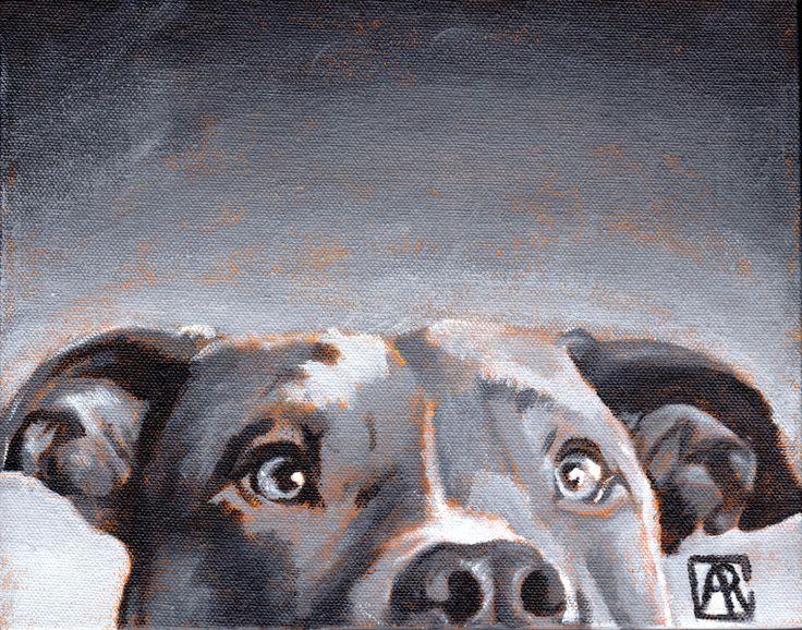 "Pitbull Art Print, Dog Art, Dog Print, Olive of the Greys, 8""X10"" giclee print Wall Art by AbbyRoseStudios on Etsy https://www.etsy.com/listing/202405071/pitbull-art-print-dog-art-dog-print"