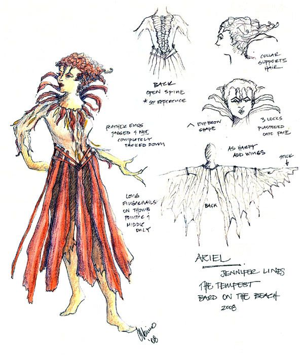 the tempest ariel costume - Google Search