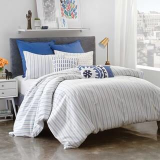 Under The Canopy Amalfi Stripe 100-percent Certified Organic Cotton Twin-size Duvet Cover Set