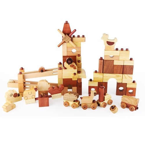 Heirloom qualify deluxe wooden block set with endless possibilities.