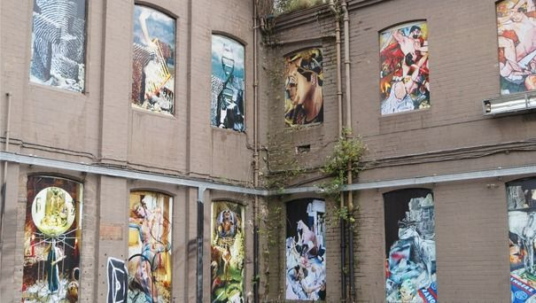 Calum Colvin public art at old Fountainbridge rubber factory   STV Edinburgh   Edinburgh