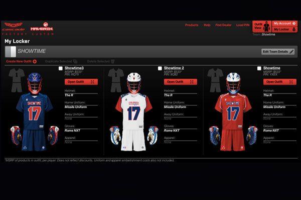 Cascade and Maverik Lacrosse Launch Custom Team Builder at Factorycustom.com