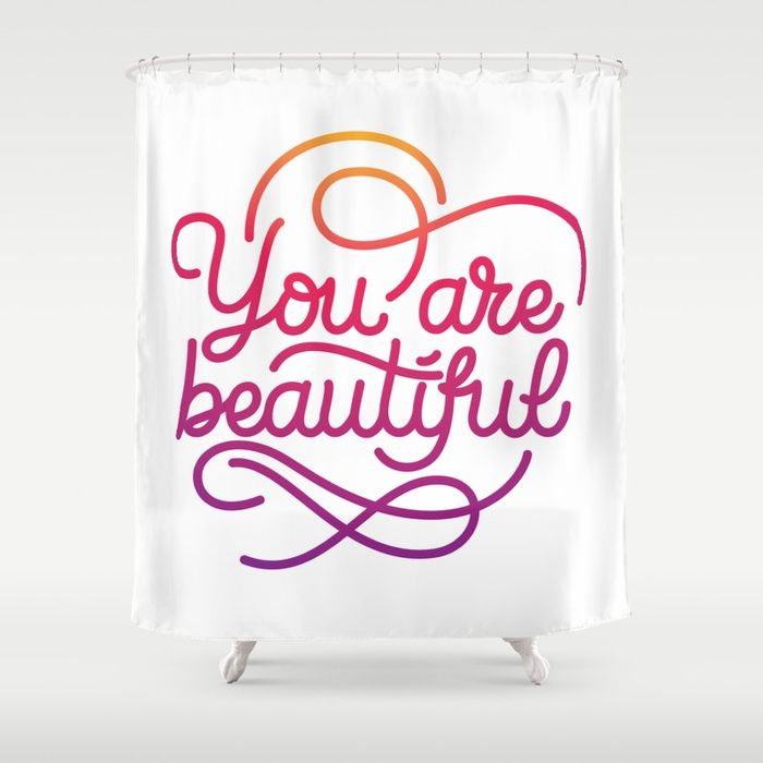 You Are Beautiful Hand Made Lettering Motivational Quote In
