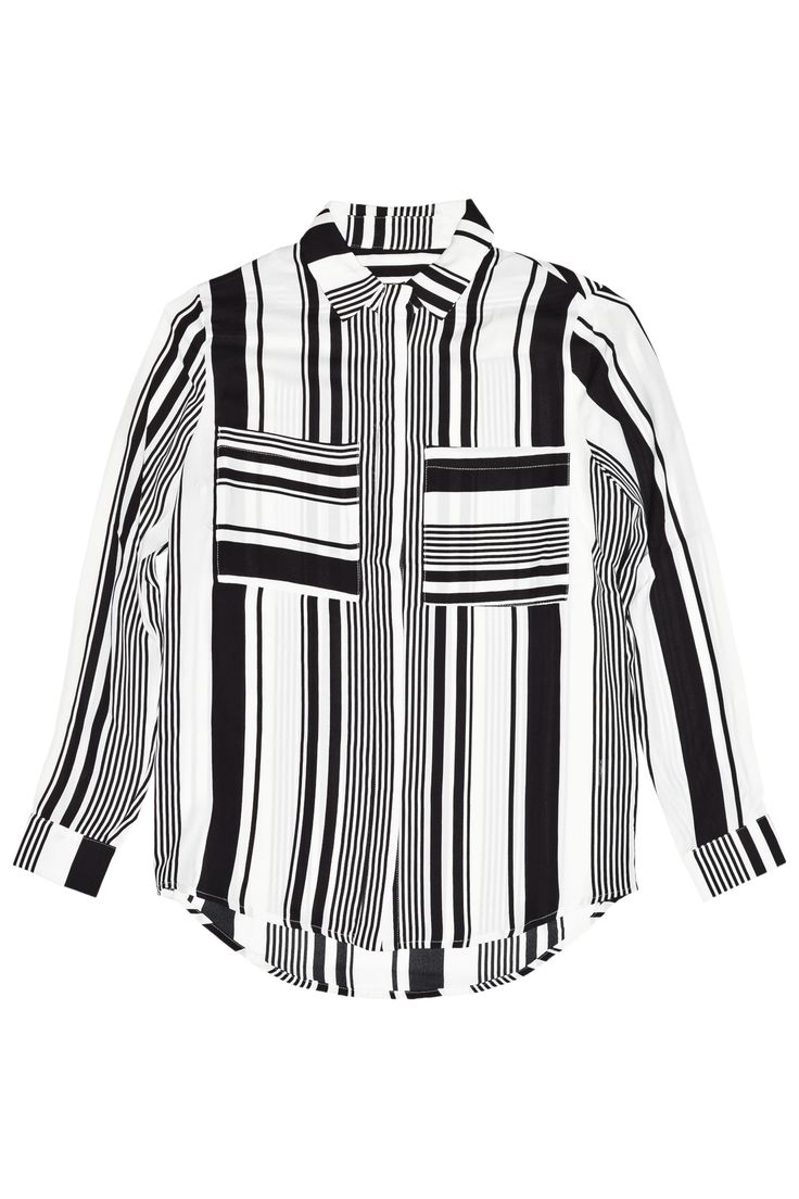 Stripes Chiffon Blouse by Nat on the Net Spring Summer 2015