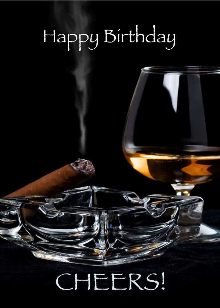 Happy Birthday Cigar and Brandy