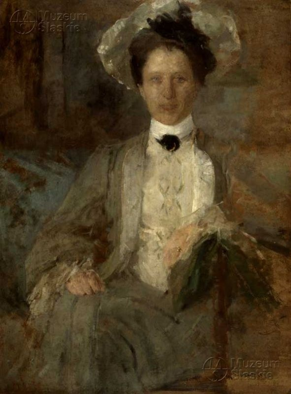 Olga Boznańska, Portrait of a Lady in a White Hat