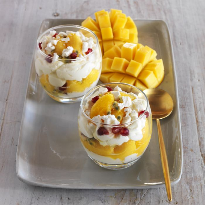 This Mango Eton Mess recipe is so easy to follow and tastes so great, you could easily impress your family and friends. Buy recipe ingredients online now!