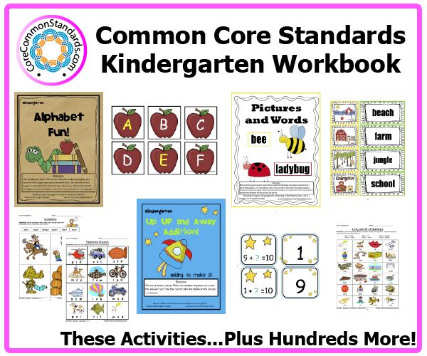 Activity Centers, and Posters that teach all the Kindergarten English and Math Common Core Standards! Answer Key also included.