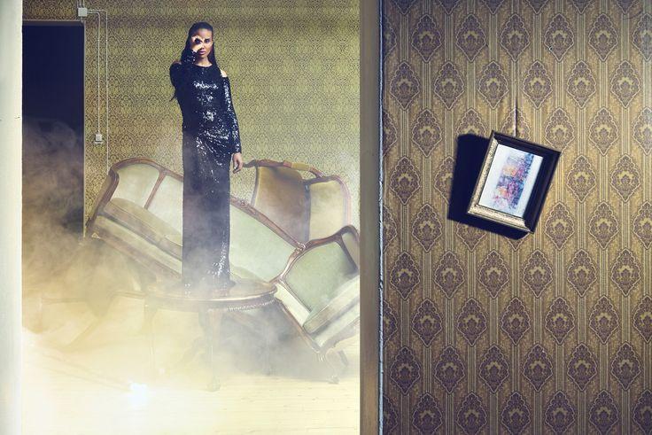 Unique dress. Photographer Nana Simelius Model Yacine Samb, Muah Kata Niemi Make Up and Hair
